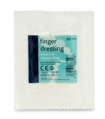Reliance 310 Sterile Finger Wound Dressing With Adhesive Fixing Small 3.5Cm X2
