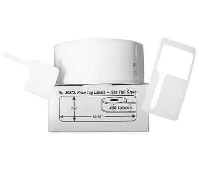 12 Rolls of 400 Pricetag Labels (Rat Tail Style) for DYMO® LabelWriter® 30373