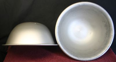 2 VINTAGE COMMERCIAL WEAR- EVER ALUMINUM KITCHEN MIXING BOWLS # 452 1/2