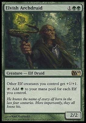 ARCIDRUIDO ELFICO - ELVISH ARCHDRUID Magic M10 Mint