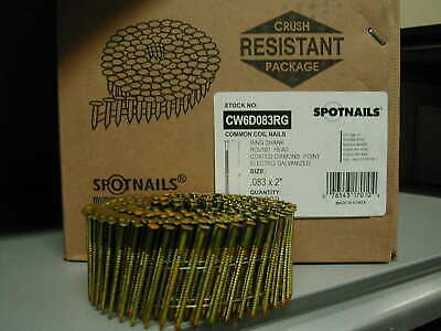 "CW6D083RG Spotnails 6d Coil Nails 2"" Inch Ring Galvanized 15 Degree (11,200)"