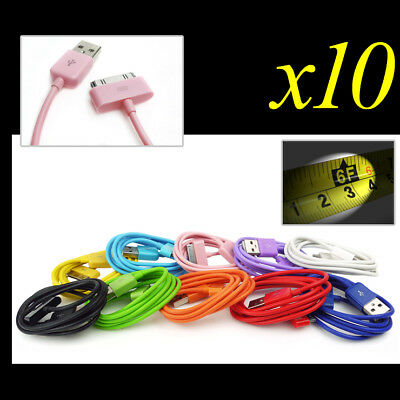 10X 10-Color 6Ft Usb 30Pin Cable Data Sync Charger For Galaxy Tab 7 8.9 10.1