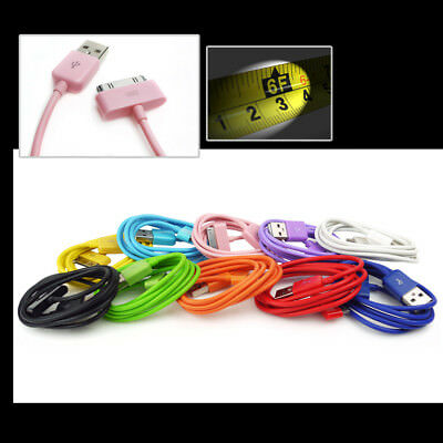 """10-Color 6Ft Usb 30Pin Cables Data Sync Charger For Galaxy Tab 7"""" 8.9"""" 10.1"""""""