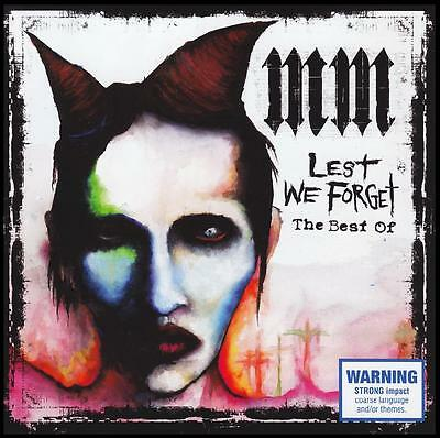 MARILYN MANSON - LEST WE FORGET : BEST OF CD 90's ~ GREATEST HITS ~ GOTH *NEW*