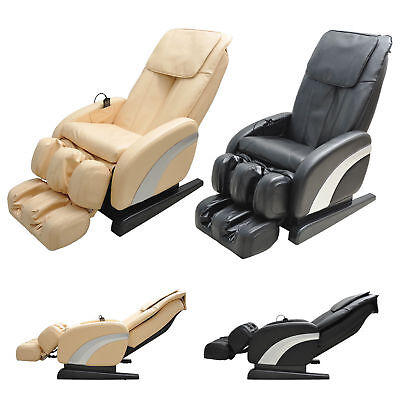 Luxury Reclining Leather Massage Chair Armchair Multifunctional Full Body Relax