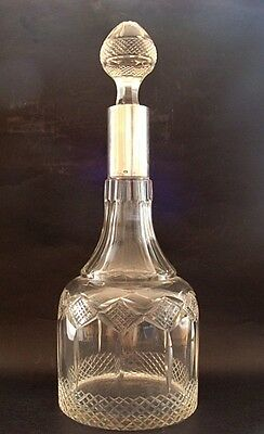 Antique Silver Sterling Glass Decanter
