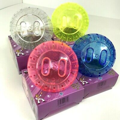 Dwarf Hamster / Mouse  Exercise Ball With Glitter Blue Pink Yellow Clear 13 cm