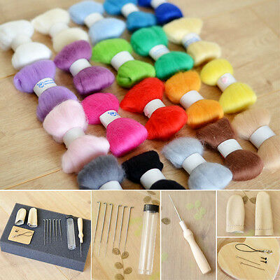 Needle Felting Starter Kit 100g Premium Australian Wool Needles Felt Mat Tool