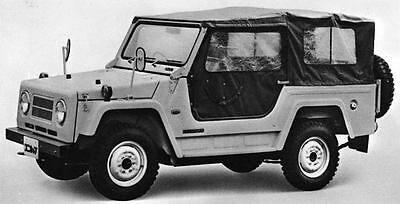 1970 Isuzu Unicab KR85 Jeep Factory Photo J7111