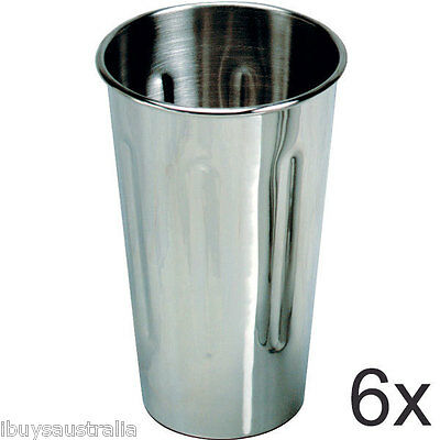 Roband Milkshake Maker 18/8 Stainless Steel 710ml Cup 6 Pack - Brand New WA132