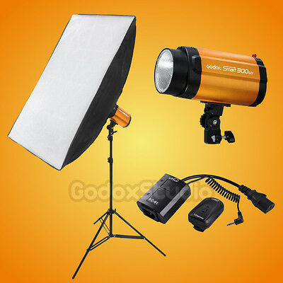 Godox Smart 300W Studio Flash Strobe 60x90cm Softbox Single Light Kit 220V 230V