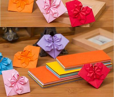 100 ORIGAMI PAPER for make origami Heart - 10 colors comb pack, 2 sizes