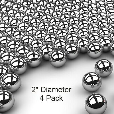 """Four 2"""" Inch G25 Precision 440 Stainless Steel Bearing Balls"""