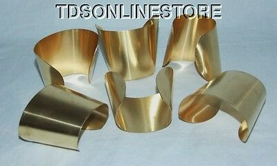 "Brass Bracelet Cuff Blanks Extra Wide Tapered 2.5"" Pkg Of 12"