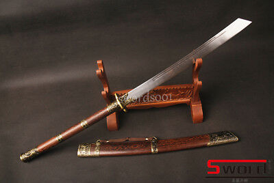 "Hualee wood Chinese KangXi sabre ""斩马刀"" broadsword Qing dyasty sword sharp knives"