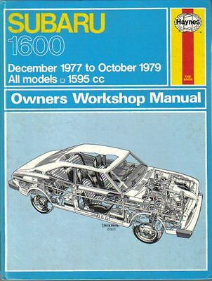 Subaru 1600 Owners Workshop Manual Dec 1977 - Oct 1979 Haynes