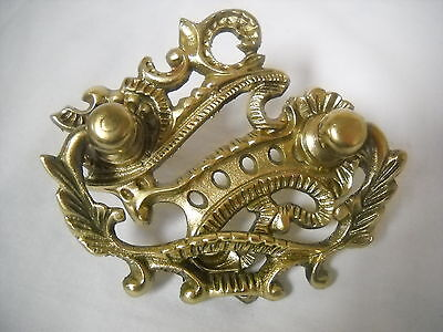 "Antique  Victorian Cast Brass Drawer Pull   2"" Centers."