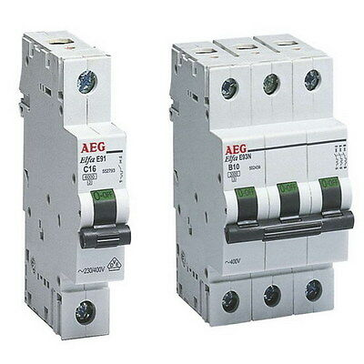 GermanAEG MCB Miniature Circuit Breaker 6KA 10 16 20 25 32 40 50 63 A 1 2 3 Pole