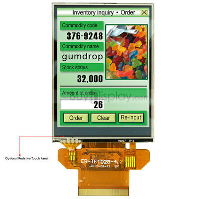 """Serial SPI 2.8"""" inch TFT LCD Display 320x240,Resistive Touch Panel w/Tutorial"""