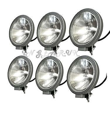 "6 Large 8.7"" Halogen Driving Lamp 12v SPOT LIGHT Spotlamps 4x4 Off Road Lorry"