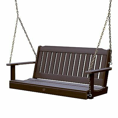 Phat Tommy Outdoor Recycled Poly Highwood Lehigh Porch Swing - Eco-Friendly