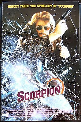 SCORPION Tonny Tulleners KGB TERRORISM Spy Thriller 1986 MOVIE PRESSBOOK
