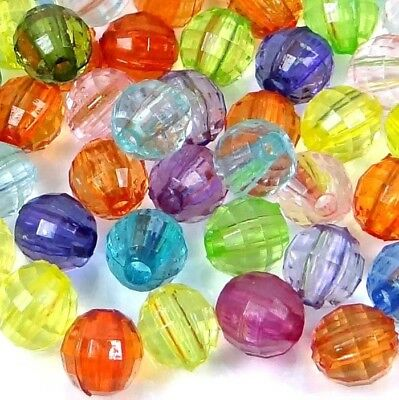 6mm Mixed Color Faceted Round Acrylic Beads spacer (100 pcs)