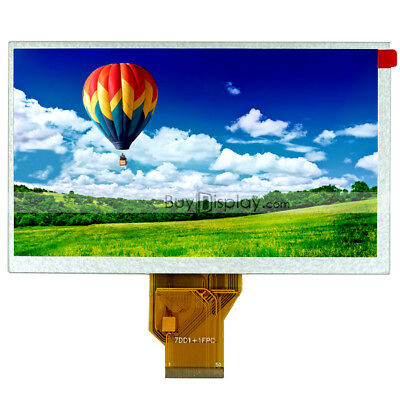 7 7.0 inch TFT LCD Color Display,Optional Touch,WVGA 800x480,AT070TN90,AT070TN92