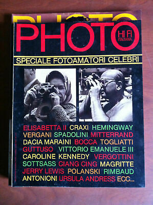Photo HI FI Italiana n° 74 Agosto 1981 Cover: Elisabetta e Craxi - E8027