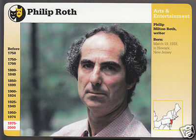PHILIP ROTH Writer Author GROLIER STORY OF AMERICA CARD