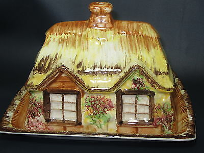 PRICE KENSINGTON  - Ye Olde Cottage - Cottages - WEDGE CHEESE DISH & LID - 51E