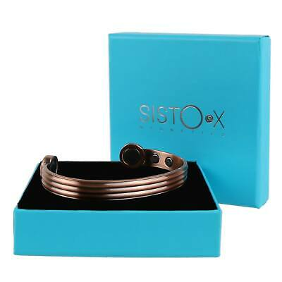 COPPER MAGNETIC Bracelet SUPER STRONG Magnets Health Benefit Therapy Rare Earth