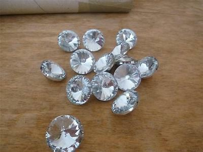 CRYSTAL / DIAMOND / DIAMANTE ~ Upholstery & Headboard BUTTONS ~  Size 25mm