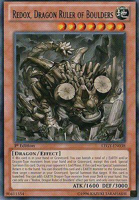 Yugioh Redox, Dragon Ruler of Boulders Secret CTIN Card Presell Ships 11/22/2013