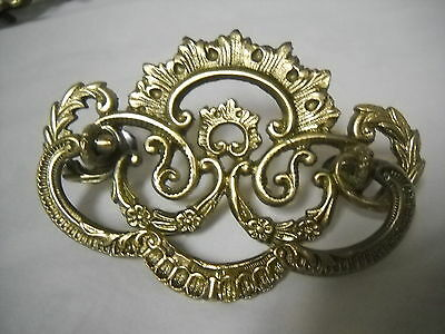 "Antique Victorian Cast Brass Drawer Pull  3 "" Centers"