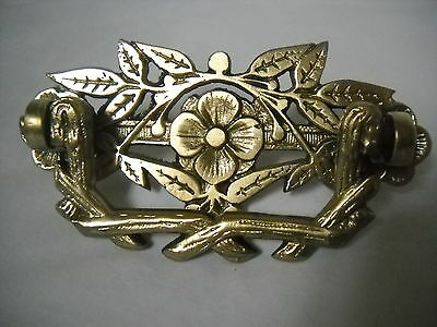 Antique Heavy Cast Brass Victorian Drawer Pull