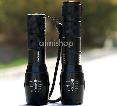 CREE XM-L T6 upgrade U2 LED 2200 Lm Zoomable18650  Flashlight Torch Zoom Lamp