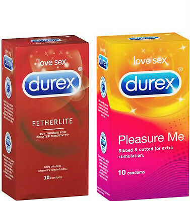 Durex Fetherlite Ultra Thin Feel & Pleasure Me Ribbed & Dotted Bulk 36 Condoms