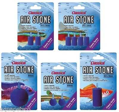 Classica Airstone Fine Bubbles Stone Fish Tank Aquarium Air Pump Wall Filter