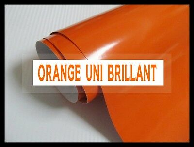 FILM CARBONE ORANGE UNI BRILLANT 152 x 20 cm