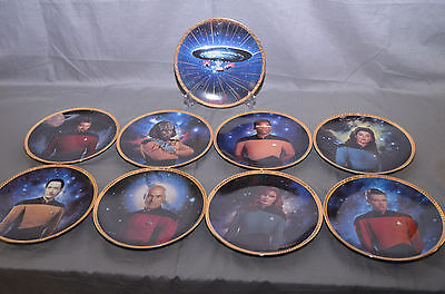 "Star Trek Hamilton collector plate's  WCOA'S  "" TNG CREW"" Worf Autograph !!!"
