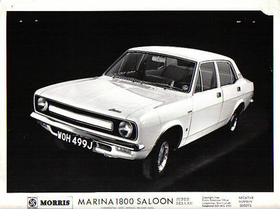 Morris Marina 1800 Mk 1 1971 original b/w Press Photo No. 209371 (some damage)