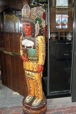 6' CHEERS TV Cigar Store Indian 6 ft Wooden Sculpture Replica by Frank Gallagher