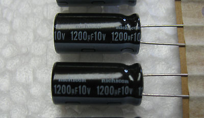 20 pcs Nichicon 1200uF 10V radial  Low impedance 105C Electrolytic Capacitors
