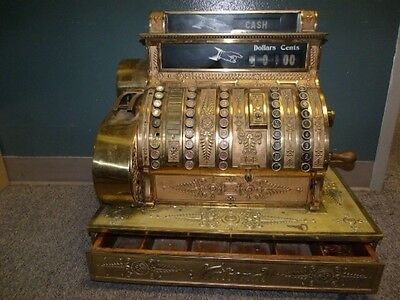 Restored 1898 Antique Nickel Plate Brass National Cash Register Model 95