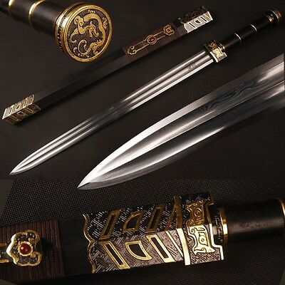 Damascus steel 中国汉剑 Chinese sword of Han dynasty knives Double HI for practise