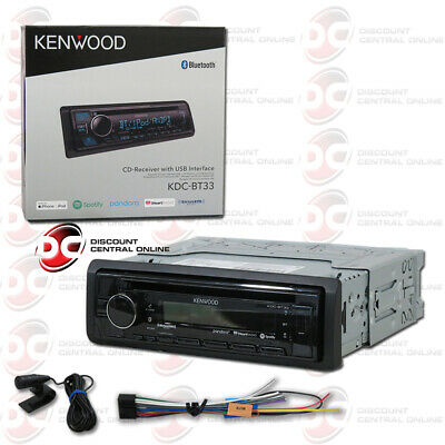 New Kenwood Kdc-Bt23 1Din Car Audio Cd Stereo Usb Bluetooth Aux-In W/ Remote App