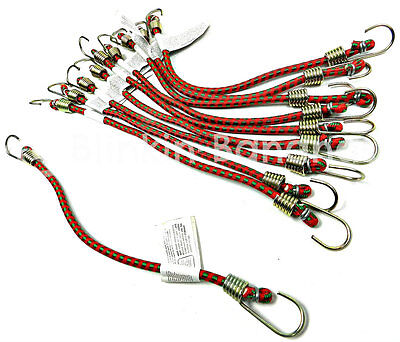 "10 X 10"" Long Small Mini Bike Car Motorbike Camping Cycling Bungee Cords Straps"