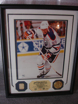 "Wayne Gretzky Highland Mint Game Used Collection Stick Photo Medallion 12"" x 15"""