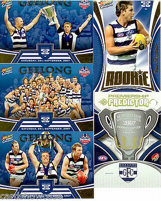 2007 Select AFL Geelong Premiership Limited Edition 4-Card+ Predictor Card